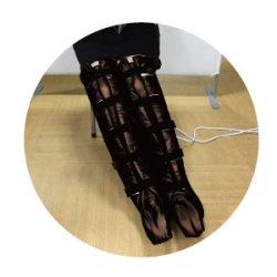 画像2: 【送料無料】 セラミックヒートミットフット(ブーツ型) 【遠赤外線ブーツ型ヒートマット】 ロングタイプ 脚用保温ミット