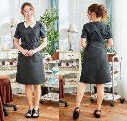 画像1: ベリエッラ エプロンA15 カラー:ブラックXクリーム エステ用制服 Veriella 高品質のデザイナーズ エステユニフォーム
