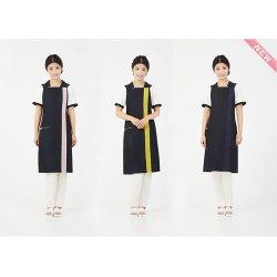 画像1: Lin de Lin リンデリン スタイリッシュエプロン カラー:全7色 エステ用制服 エステユニフォーム エプロン